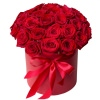 Цветы в коробке «Красные розы»