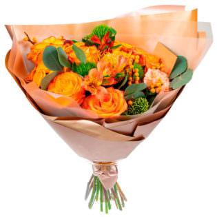 Букет «Оранжевое настроение»